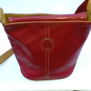 Mondani Red Leather Purse